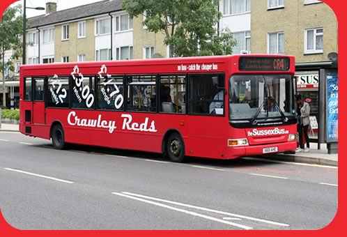 SussexBus Dart in Crawley by By Terry O'Neill